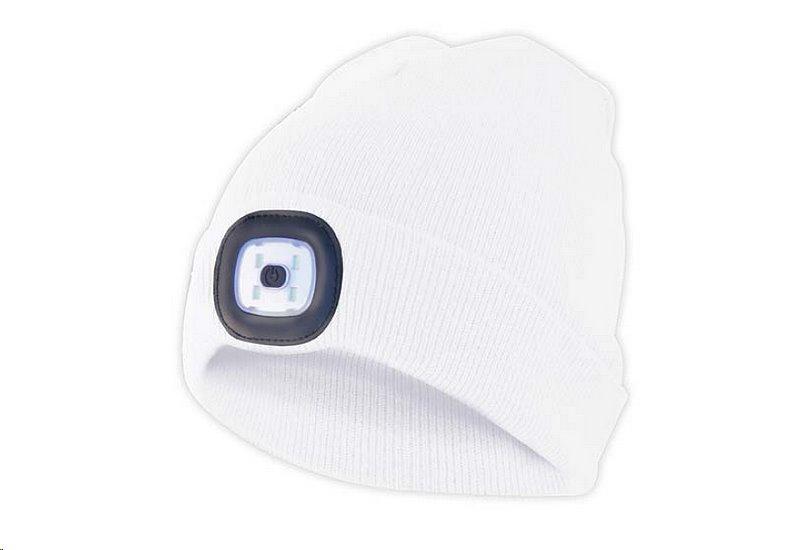 Čepice s čelovkou, univerzální velikost, bílá, VELAMP CAP09