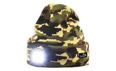 Čepice s čelovkou, univerzální velikost, maskáčová Cattara 14020 ARMY