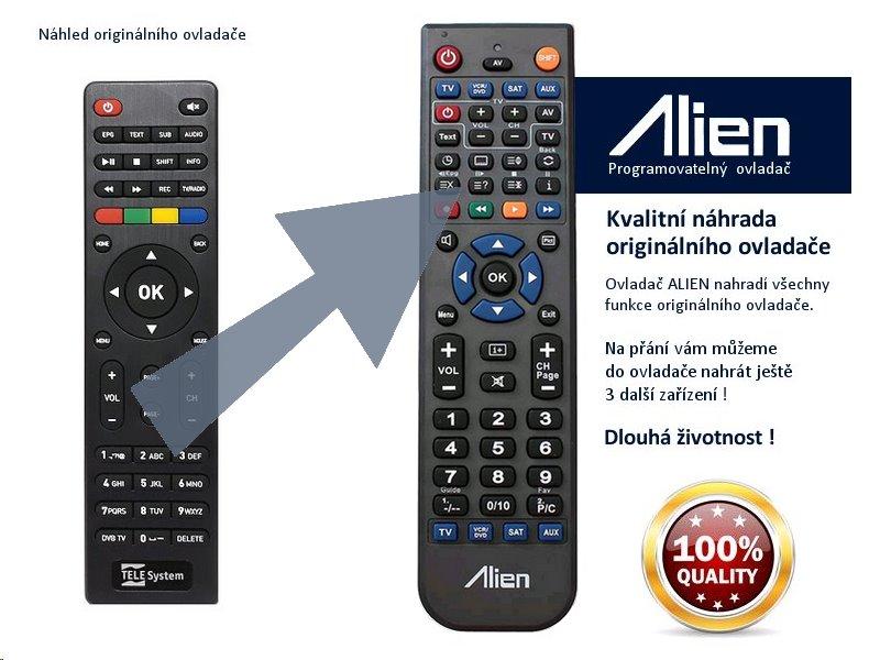 Dálkový ovladač ALIEN TeleSystem TS UP 4K