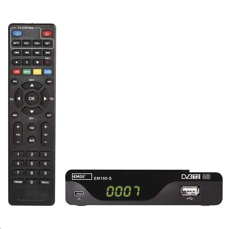 EMOS EM190-S HD DVB-T2 H.265/HEVC