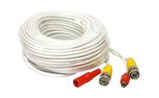 Kabel koaxiální s BNC + napájení 18 metrů bílý