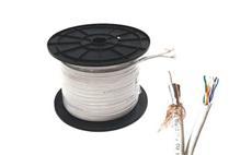 Koaxiální kabel Zircon CU 125 AL + UTP 5e CU - návin 100 m