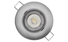 LED bodové svítidlo Exclusive stříbrné, 5W teplá bílá ZD3221