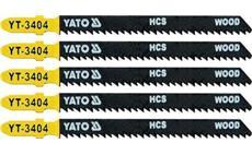 List pilový do přímočaré pily 100 mm na dřevo TPI10 5 ks YT-3404