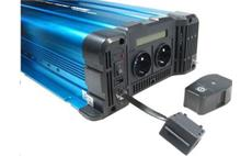 Měnič napětí Solarvertech FS4000 24V/230V 4000W + USB, dálkové ovládání, čistá sinusovka