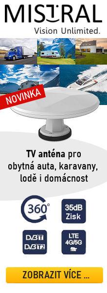 Mobilní TV Anténa MISTRAL MI-ANT07 pro obytná auta a karavany