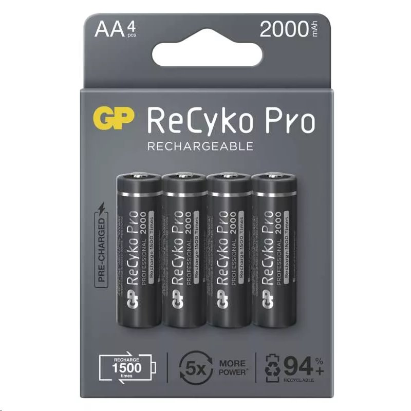 Nabíjecí baterie GP ReCyko Pro Professional 2000 HR6 (AA), krabička 4 kusy