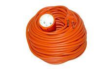 Prodlužovací kabel spojka 20m 2x 1mm, oranžový Solight PS27