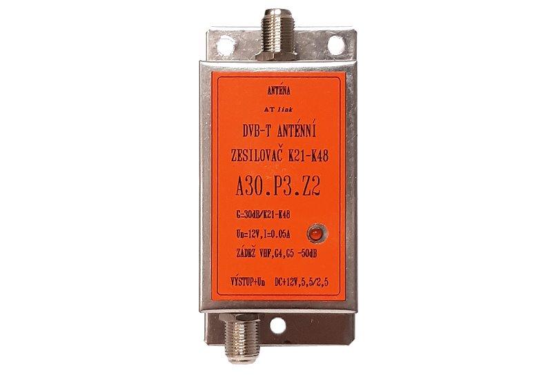 Zesilovač ATOS A30.P3.Z2 30dB 12V K21-48 LTE700